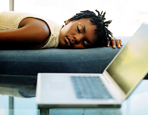Picture Of Black Woman Sleeping In Bed
