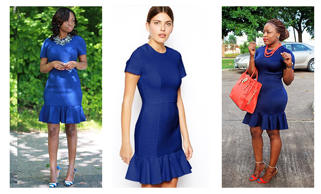 Who Wore It Best The Blue Pencil Dress With Peplum Hem Kamdora