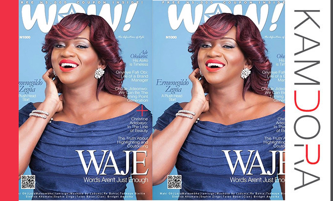 Waje Covers New Issue of WOW! Magazine