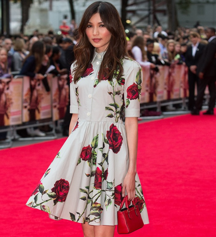 Look Of The Day Gemma Chan Wows In Dolce And Gabbana