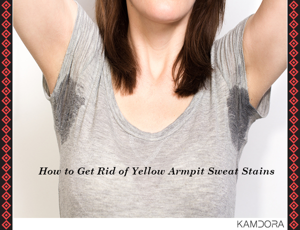 how to get rid of yellow armpit sweat stains kamdora. Black Bedroom Furniture Sets. Home Design Ideas