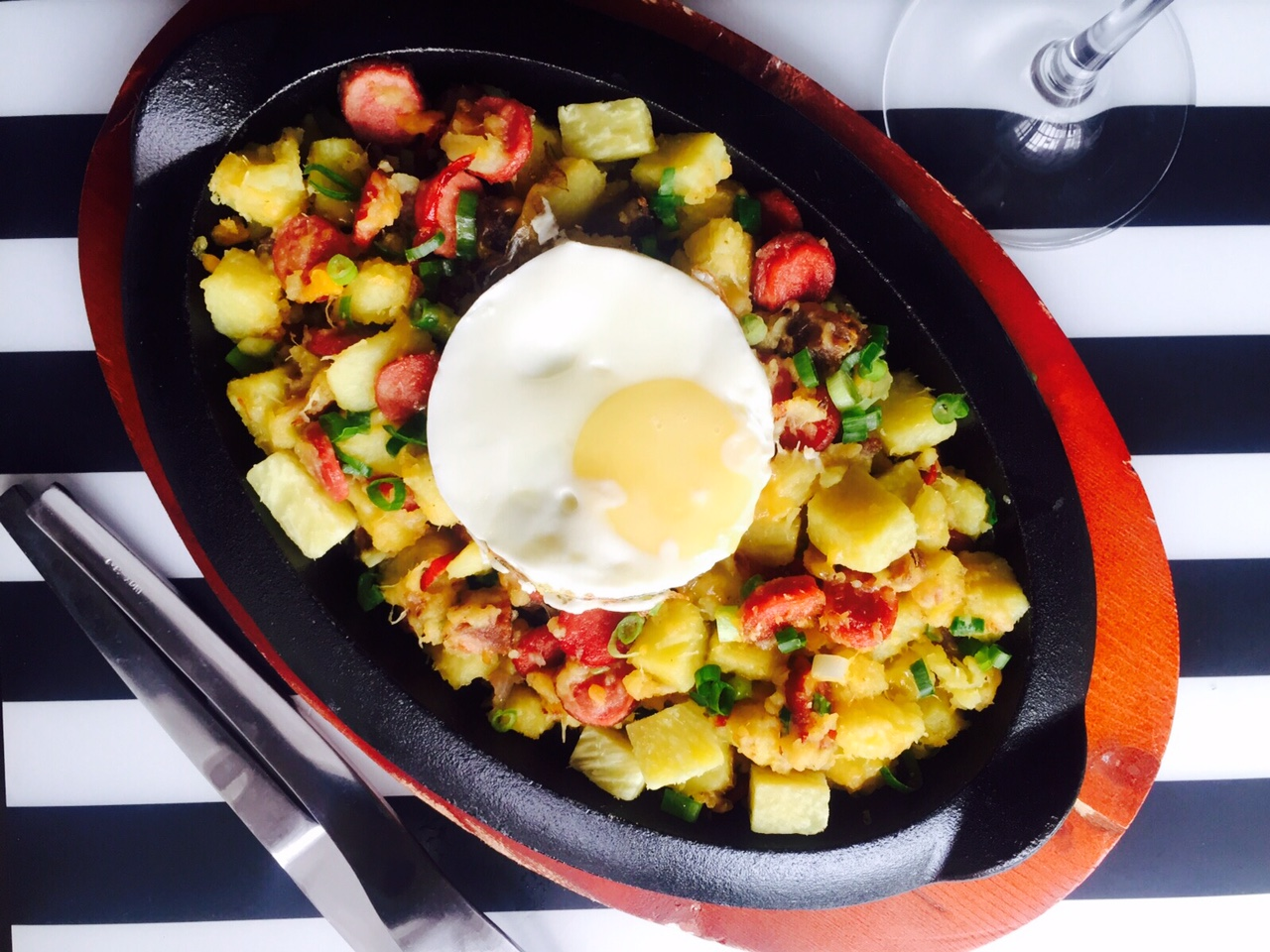 Weekend Recipe with Chef Renee: Meaty, Cheesy, Yam Breakfast Skillet