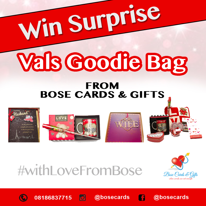 Valentines Giveaway – Win Surprise Vals Goodies From Bose Cards & Gifts