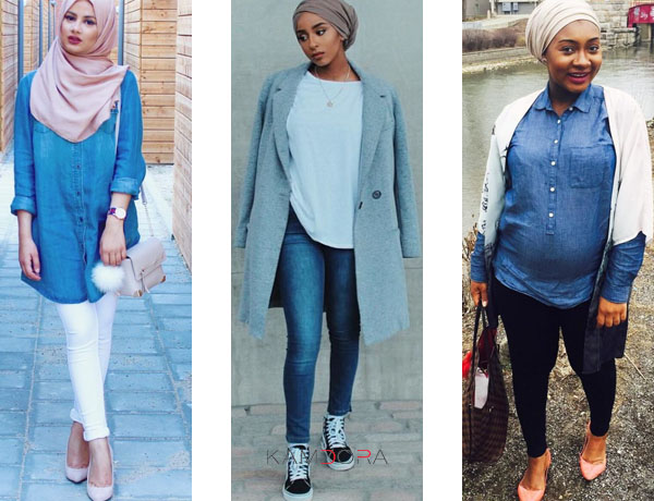 Hijab And Turban Styles #32: Check Out These Denim Looks