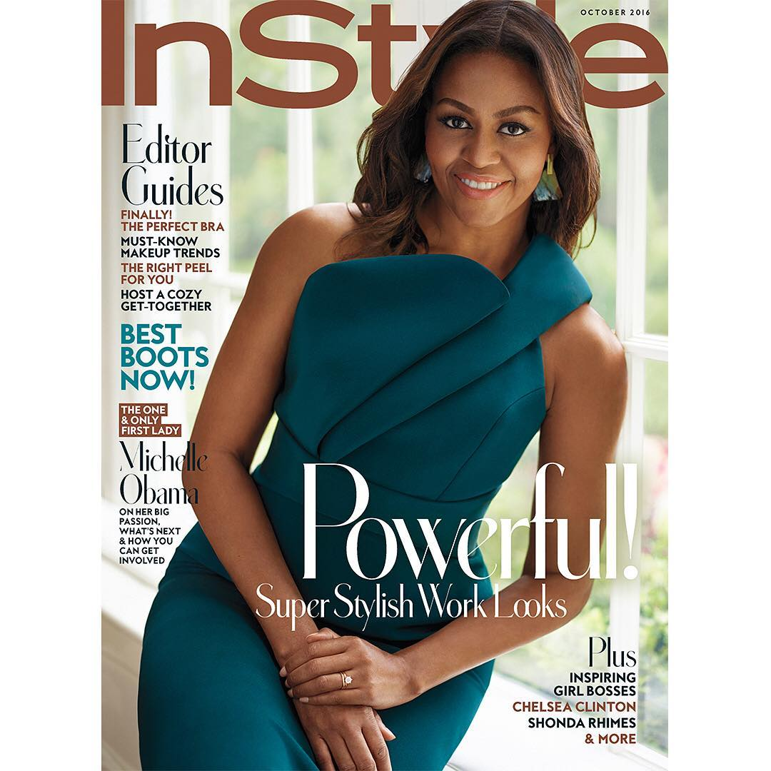 #InStyleFLOTUS: Michelle Obama Looks Amazing for InStyle Magazine's October Issue Cover