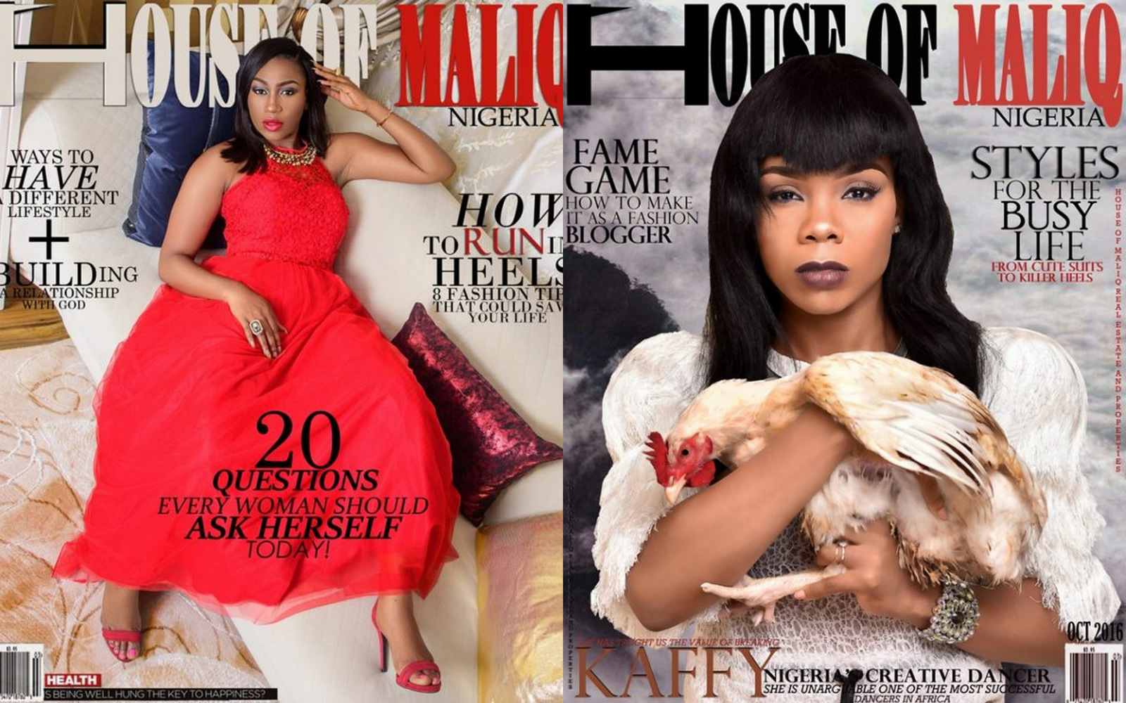 Ebube Nwagbo And Kaffy Cover October Issue Of House Of