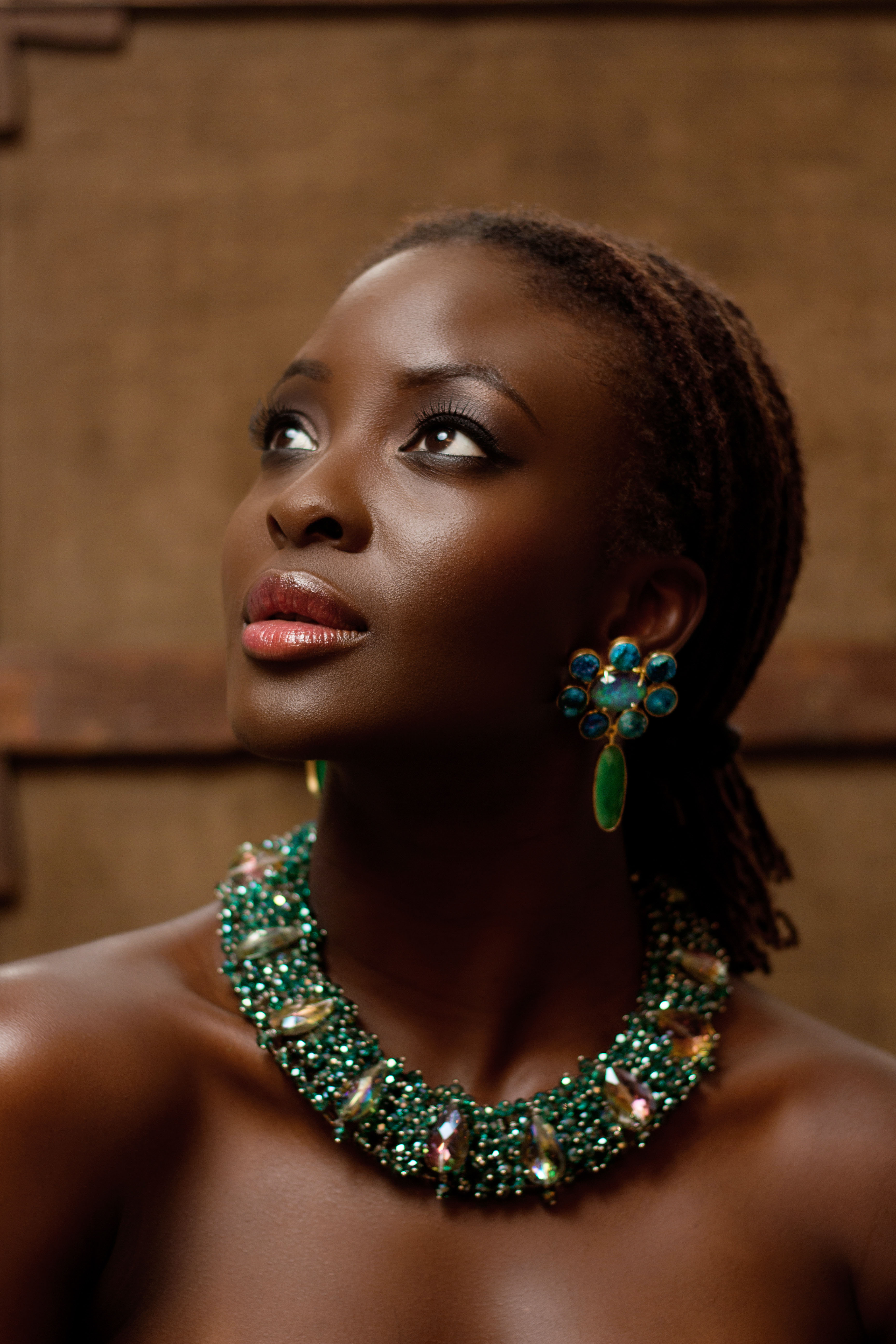 Folu Storms models for new Raya collection.