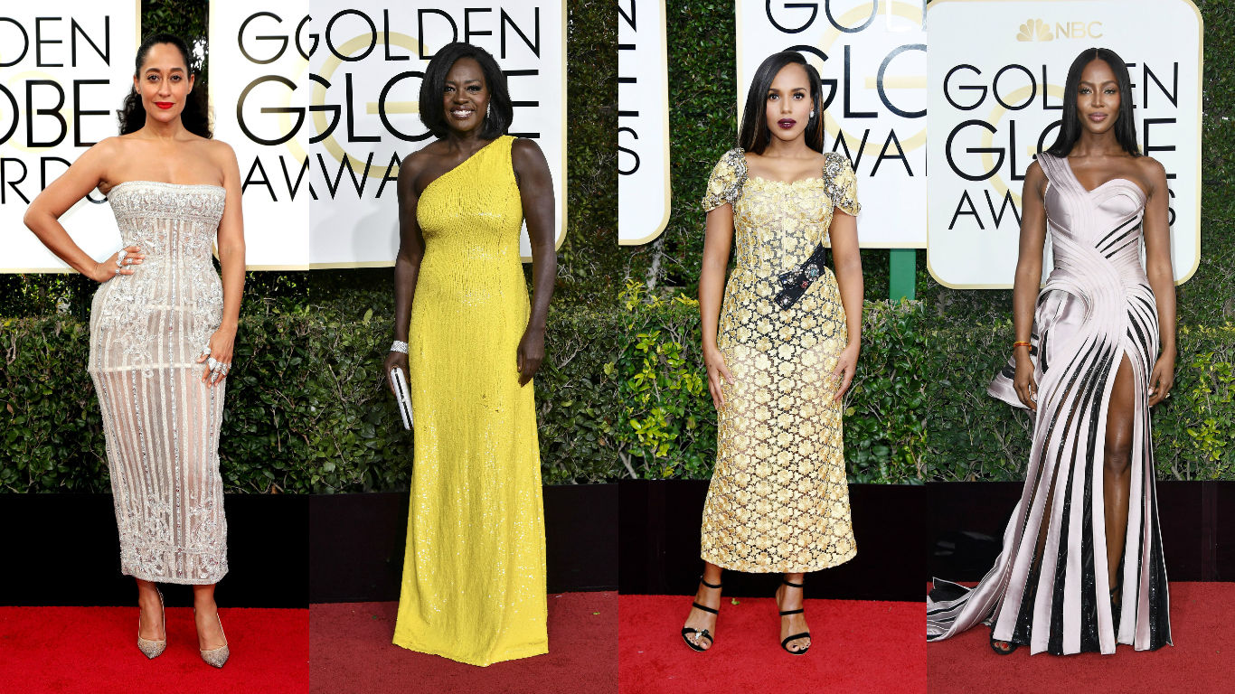 Golden Globes Awards 2017: Best Dressed From The Red Carpet….(14 Looks)