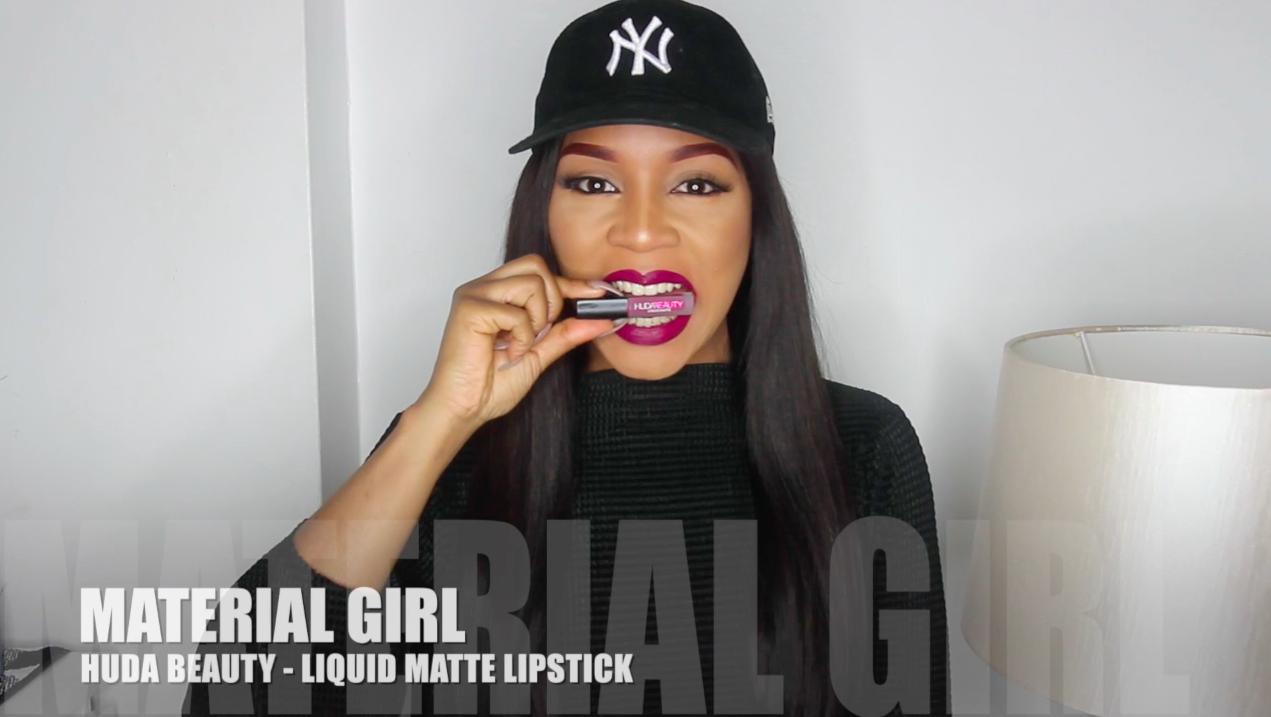 Are you a heartbreaker or a Material girl? – Huda Beauty Lipstick swatches – Lola OJ