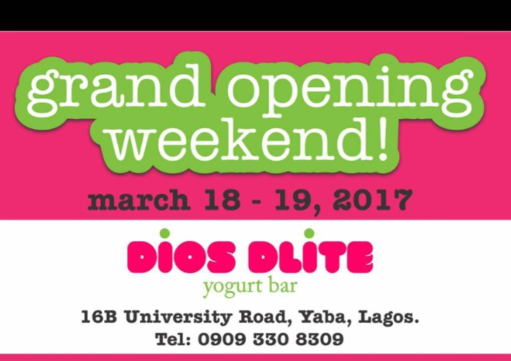 Two for The Price Of One! You Don't Want To Miss Dios Delite Yogurt's Grand Opening Weekend: March 18th- 19th!