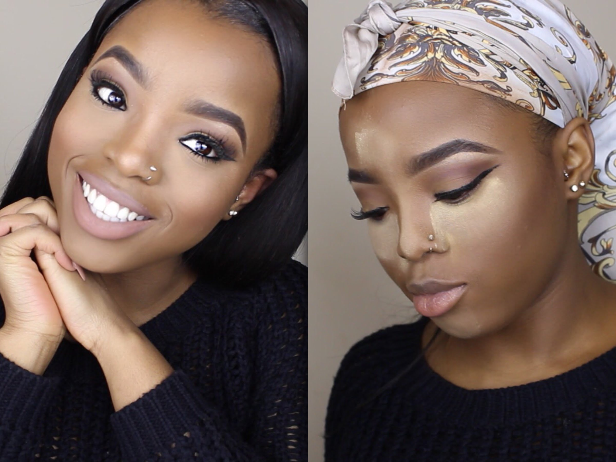 Simple Way To Do Highlighting Amp Contouring On Dark Skin