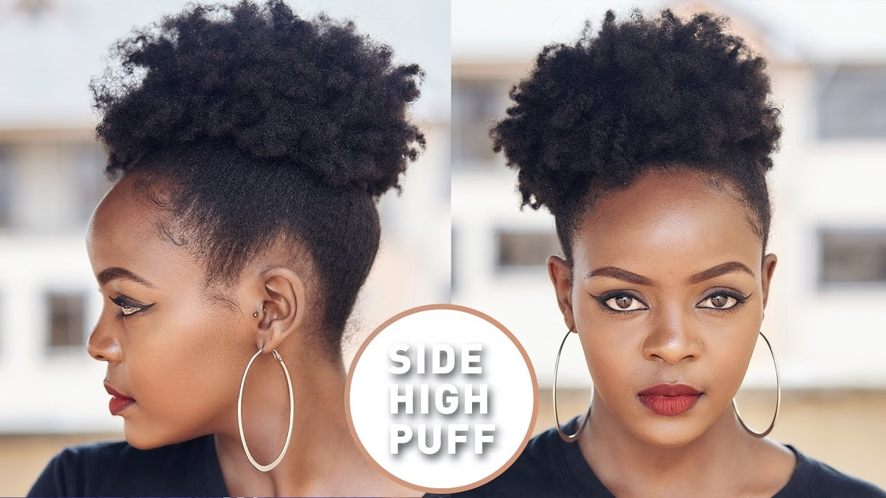 How To Do A Quick High Side Afro Puff With