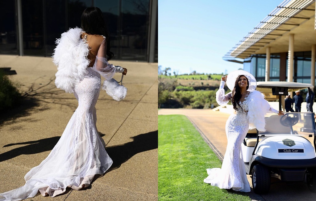 We Are Head Over Heels In Love With Bonang Matheba's Gorgeous All White Outfit!