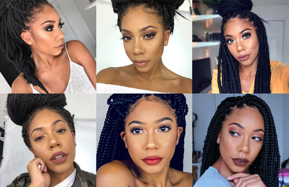 how to style box braids for work