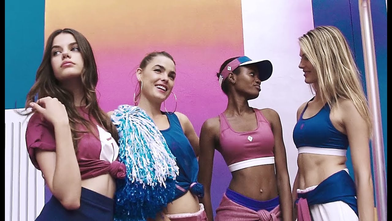 Elizabeth Ayodele Tries Out Cheerleading Routines In NikeLab x Pigalle Collection For Love Magazine