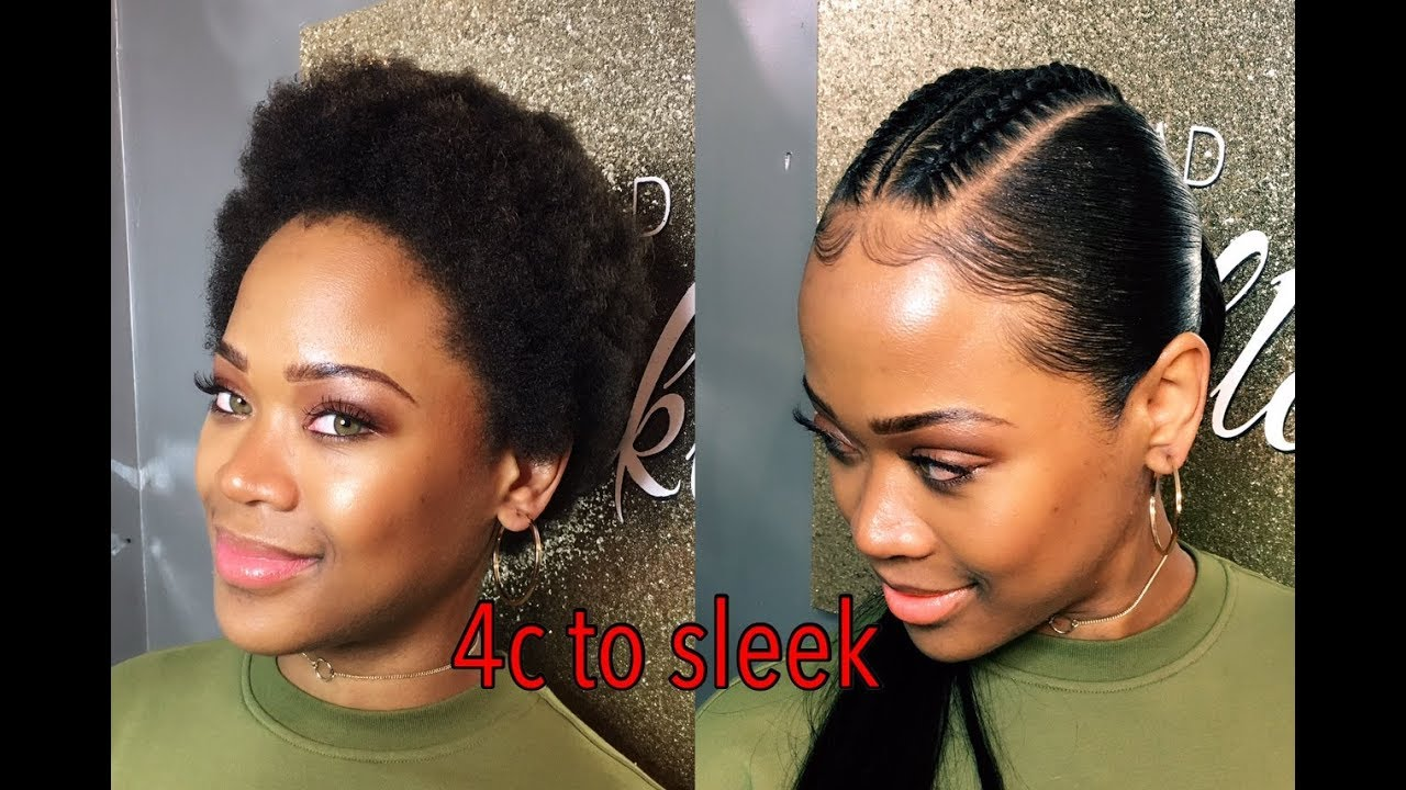 Natural Hair C Slick Back Ponytail