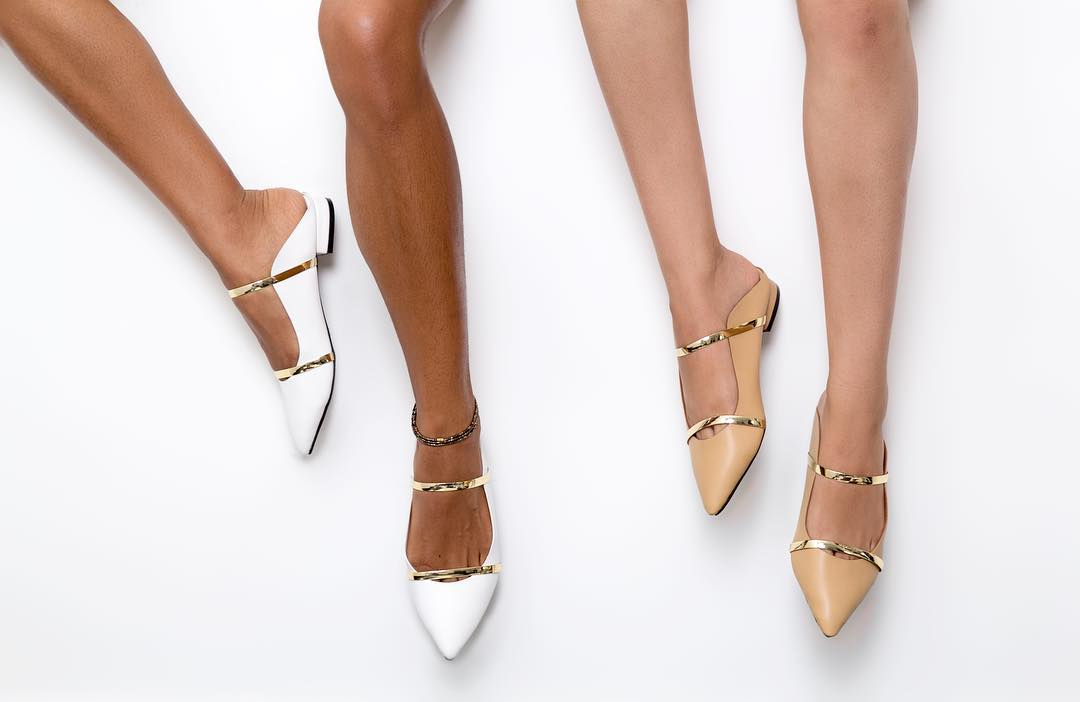 Style Steal – Shop Maju's Pointy Gold Stripe Mules Is An Affordable Substitute To Malone Souliers'!