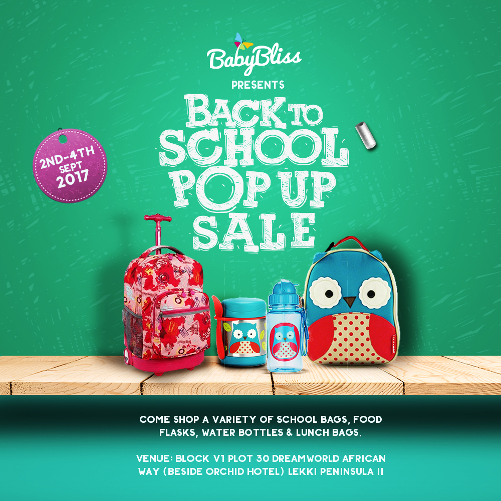 Back To School Shopping! A Baby Bliss Pop Up Sale Event