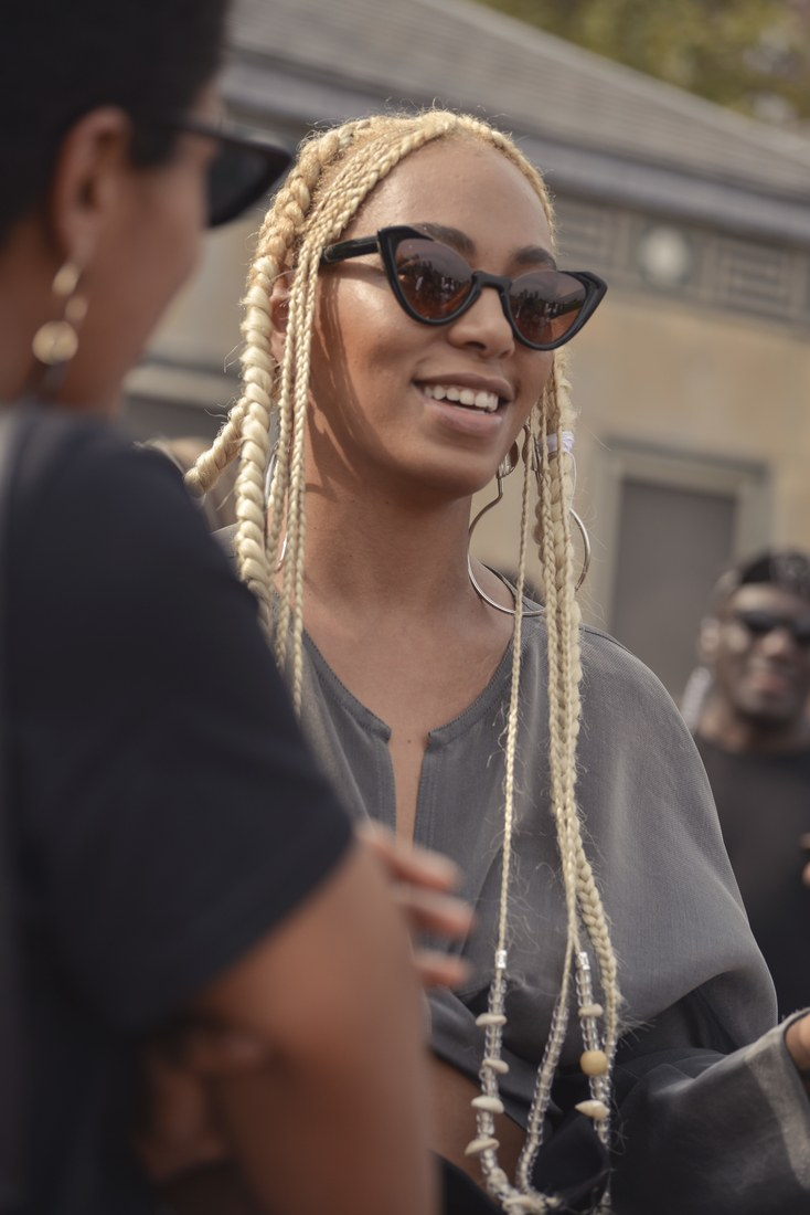 Solange S Platinum Blonde Braids Is The Rave Of Nyfw