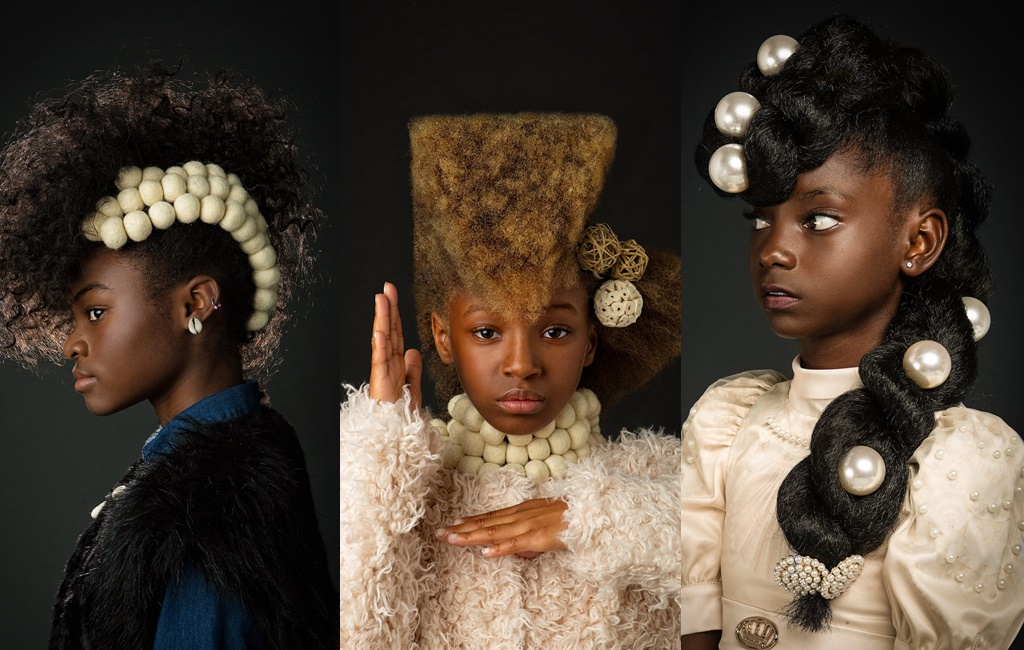 This Afro Art Photo Series Showcases Young Girls In Elaborate & Artistic Hairstyles