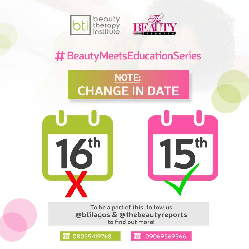 Register to Attend The #BeautyMeetsEducationSeries Event + Win a Scholarship to Study Amazing Courses at The Beauty Therapy Institute