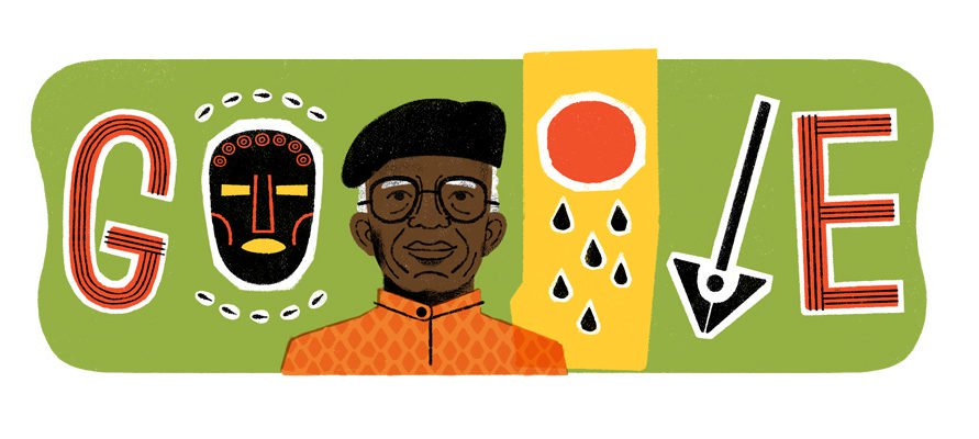 On What Would Have Been His 87th Birthday, Chinua Achebe is Google's Doodle Today!
