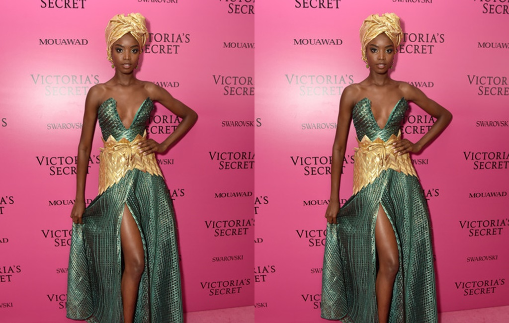 Maria Borges takes to The Victoria's Secret Show After Party wearing Tiffany Amber!