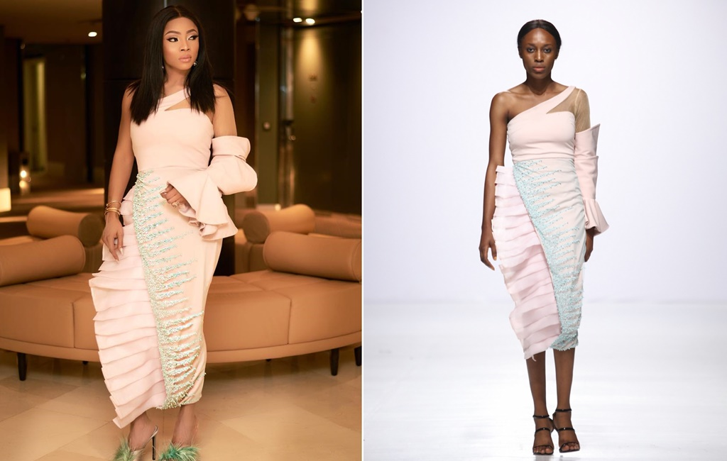 #OOTD! Toke Makinwa In This Gorgeous DZYN Number!