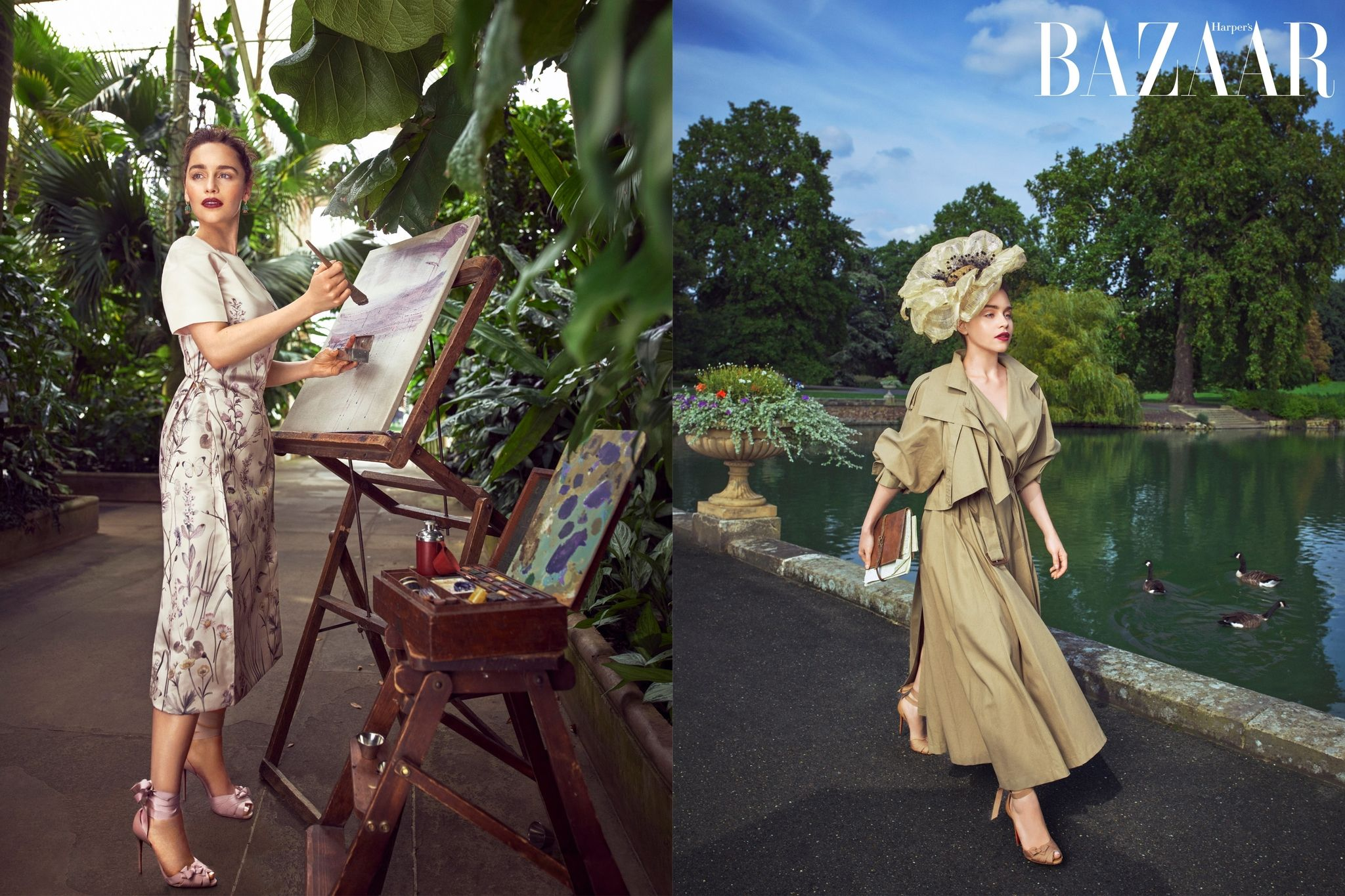 Game of Thrones Star Emilia Clarke is a Vision in Floral for Harper's Bazaar US!