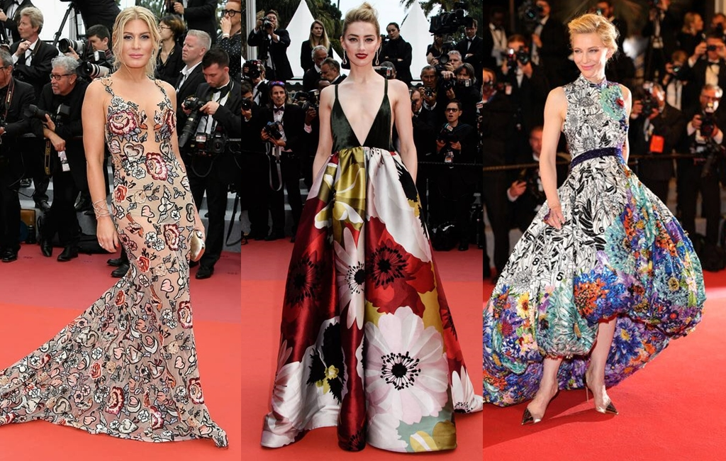 6 Gorgeous Floral Dresses From The Cannes Film Festival