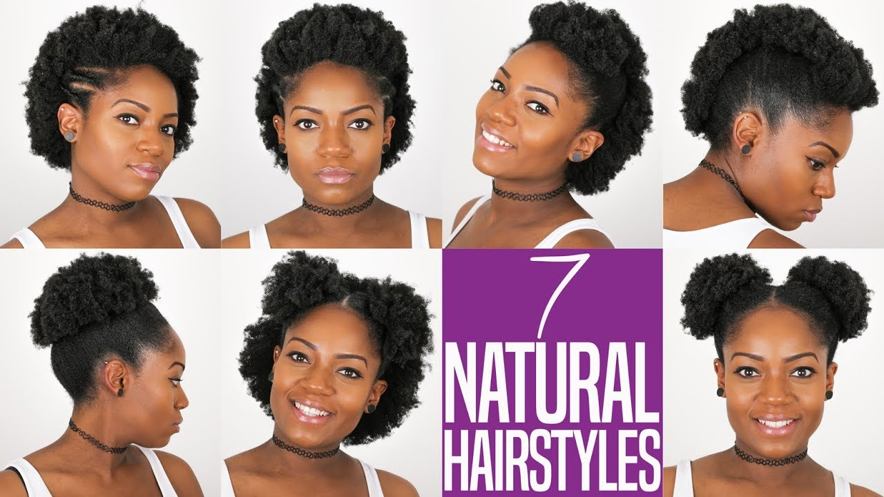 7 Natural Hairstyles For Short-Medium Length