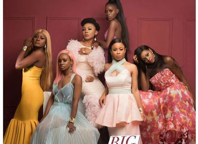 #BBNaija's Khloe, Alex, Anto, Ifu Ennada, Ahneeka And Nina Feature On Glam Africa Magazine
