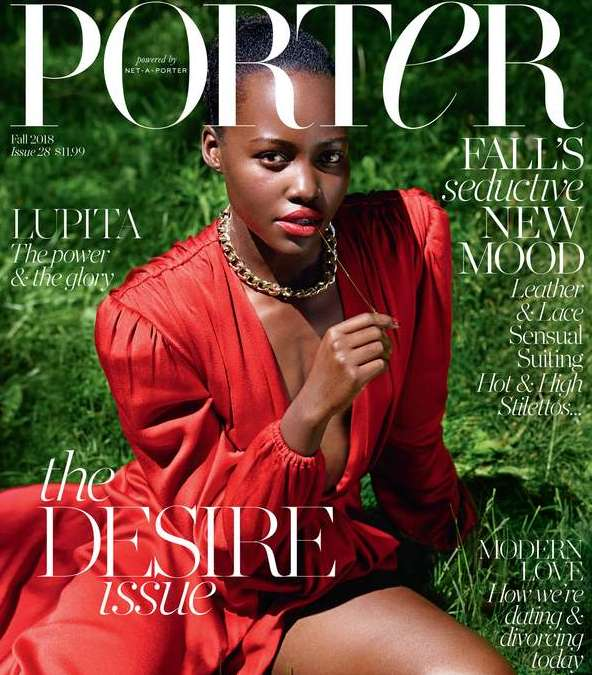 Lupita Nyong'o Wears Red Fro Porter Magazine's Desire Issue