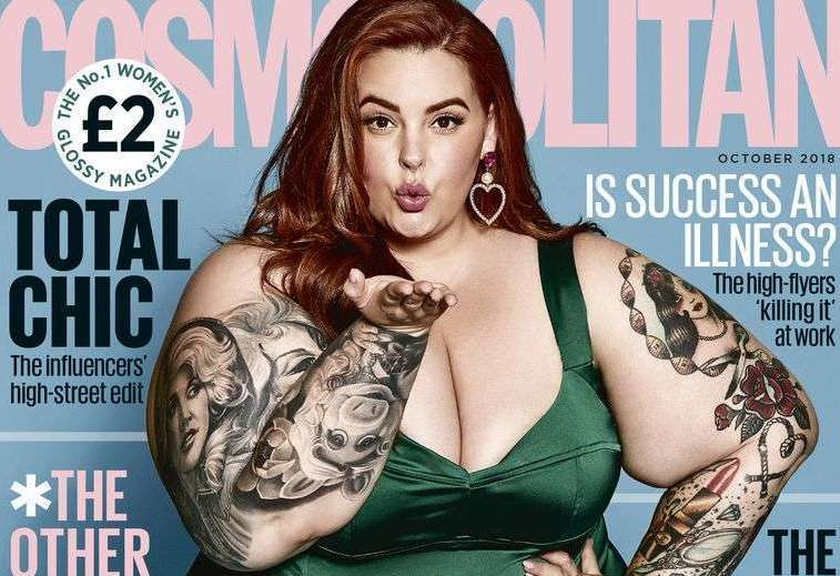 Plus Size Model Tess Holliday Covers The October Issue Of Cosmopolitan UK