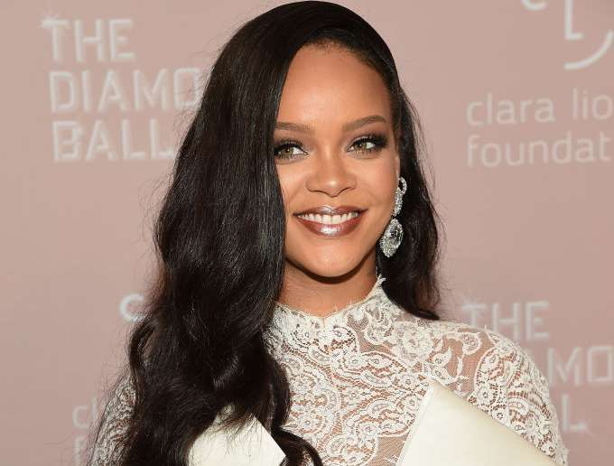 Rihanna Stuns In White For Her 4th Annual Diamond Ball
