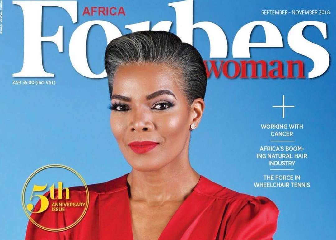 South African Actress/Businesswoman Connie Ferguson Covers Latest Edition Of Forbes Woman Africa