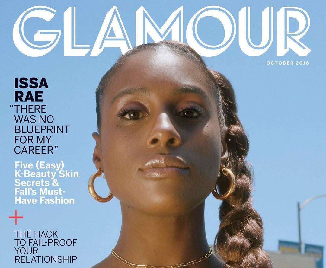 Issa Rae Poses On The Cover Of Glamour Magazine Tv Issue