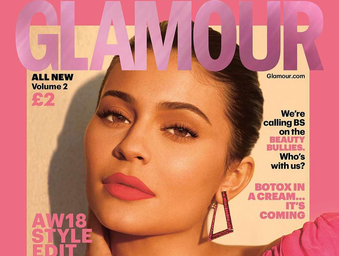 Kylie Jenner Is The Cover Girl For The Biannual Autumn/Winter Issue Of Glamour UK's Magazine