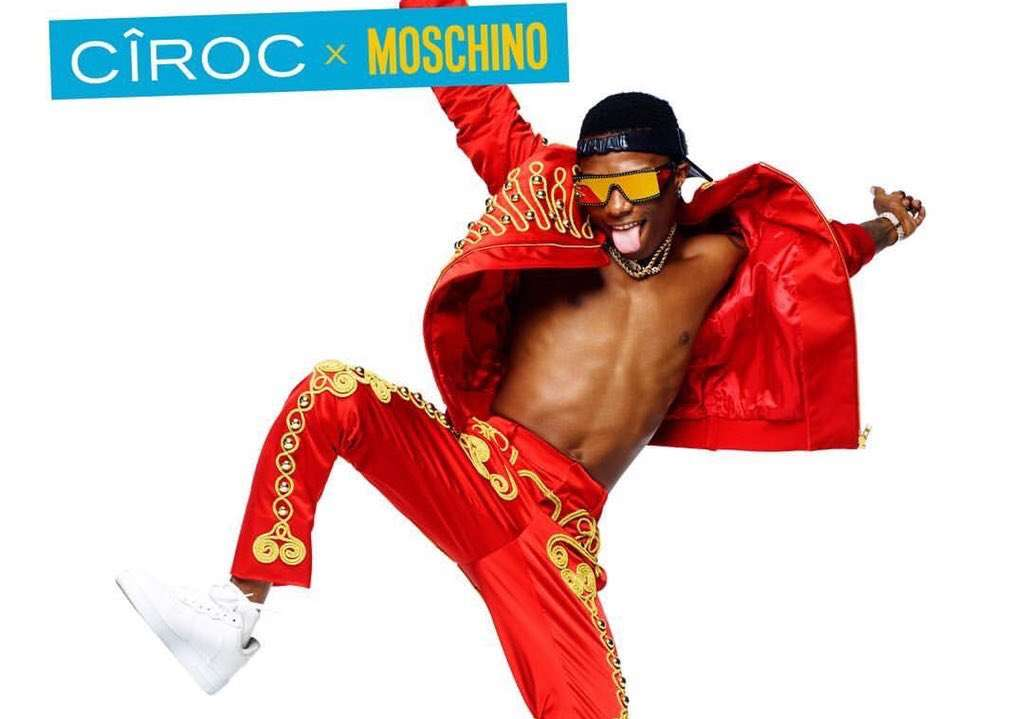 Wizkid Is The Muse For The Moschino X Ciroc Collaboration: The Campaign Pictures Are Hot