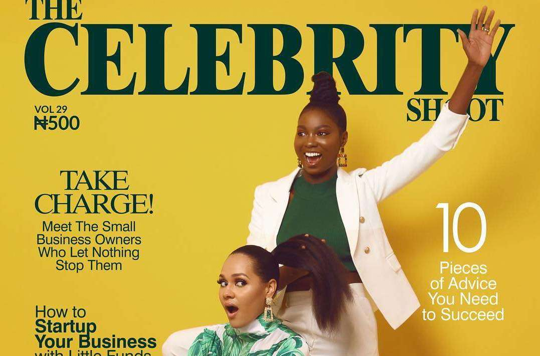 Take Charge: Olarslim And Tania Omotayo Cover The Celebrity Shoot Magazine's Latest Issue