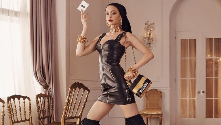 Gigi Hadid Features In Moschino And H&M's First Ad Campaign