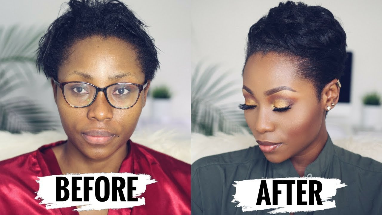 Dinma Umeh shows us how to style short relaxed hair