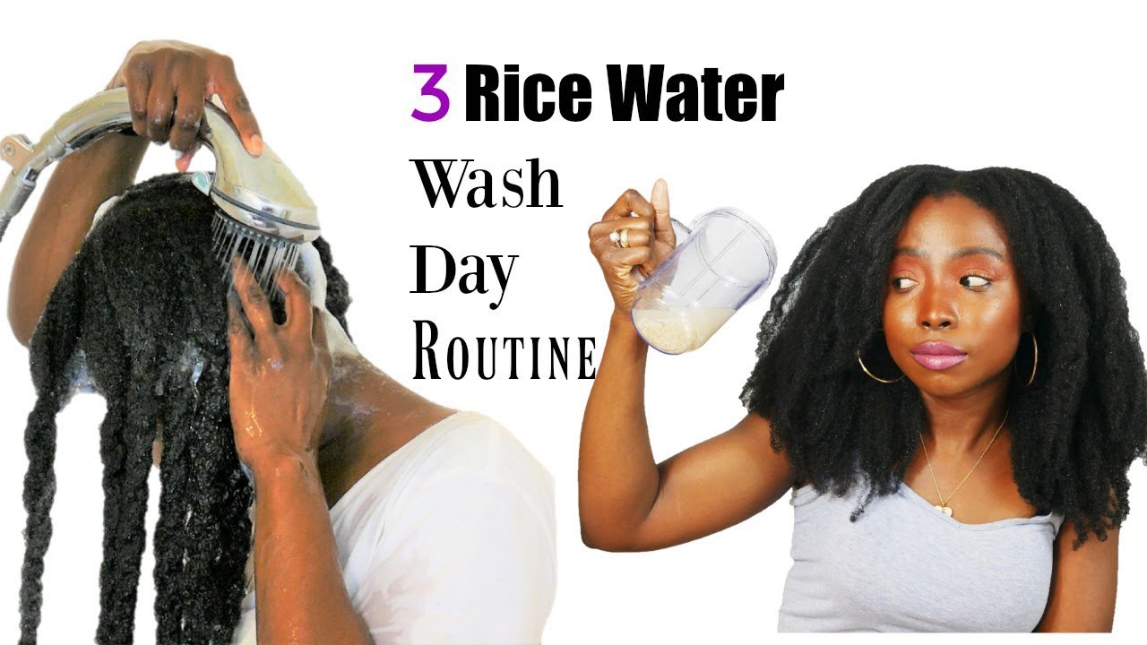 Watch How Craving Curly Kinks Uses Rice Water For Hair Growth