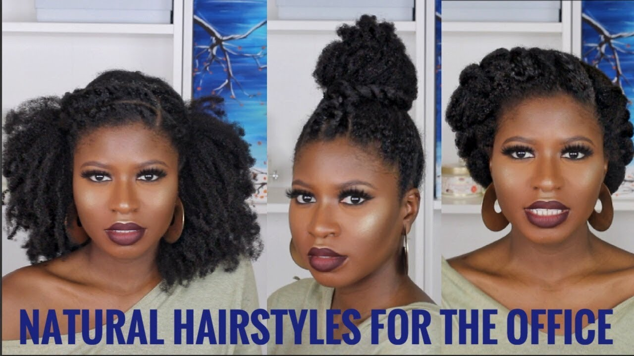 Kamdore Fashion: 3 Super Quick/Easy Natural Hairstyles For Work