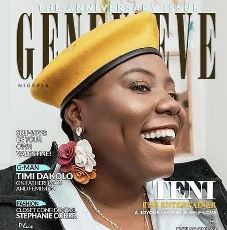 Teni The Entertainer Is The Cover For Genevieve Magazine's Latest Issue