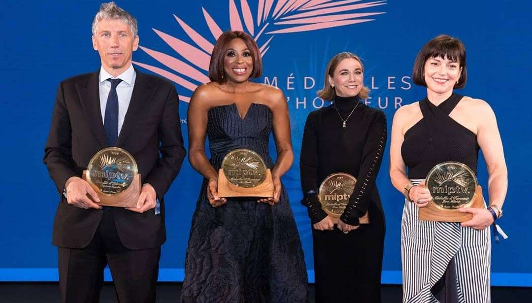 Pictures Of Mo Abudu Receiving The 2019 Médailles D'Honneur Last Night In France